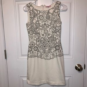 Lilly Pulitzer Cream / Black Chic Cocktail Dress